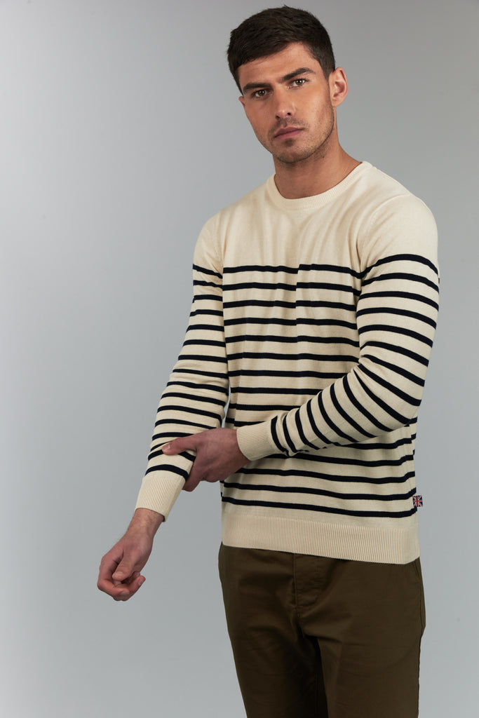 Hampton | Ecru Breton Striped Jumper