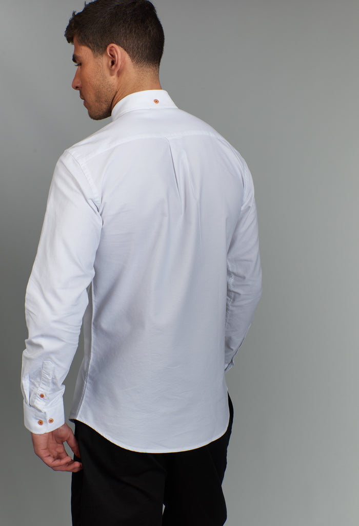 Oxford Shirt for Men 100% Cotton - White - victor