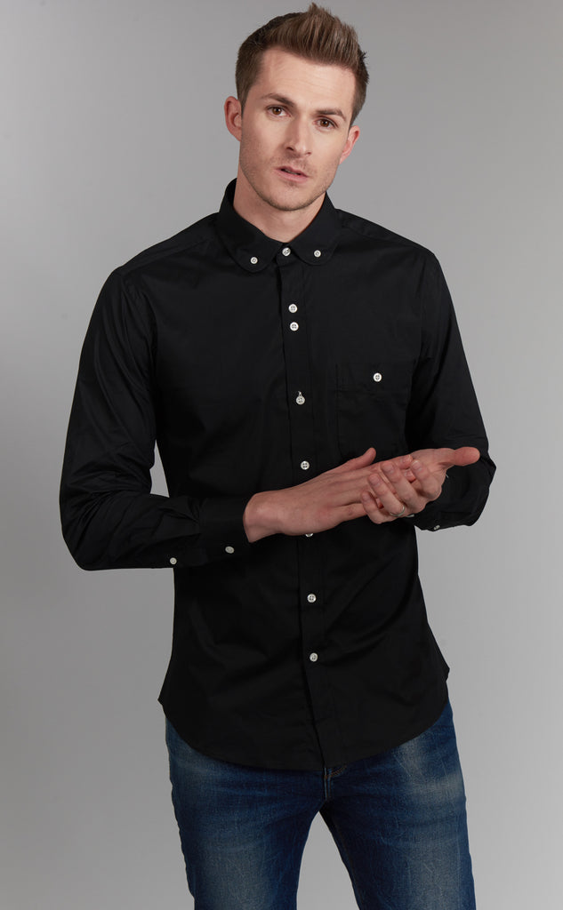 Hamilton | Black Slim Fit Dress Shirt