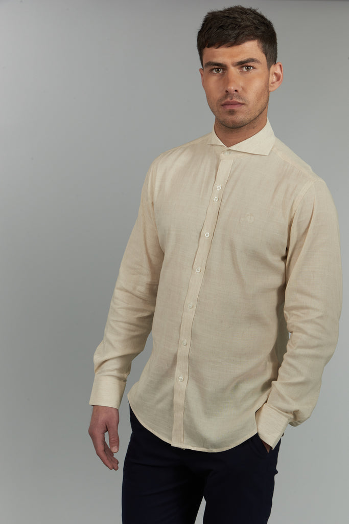 Peter | Long Sleeved Linen Shirt