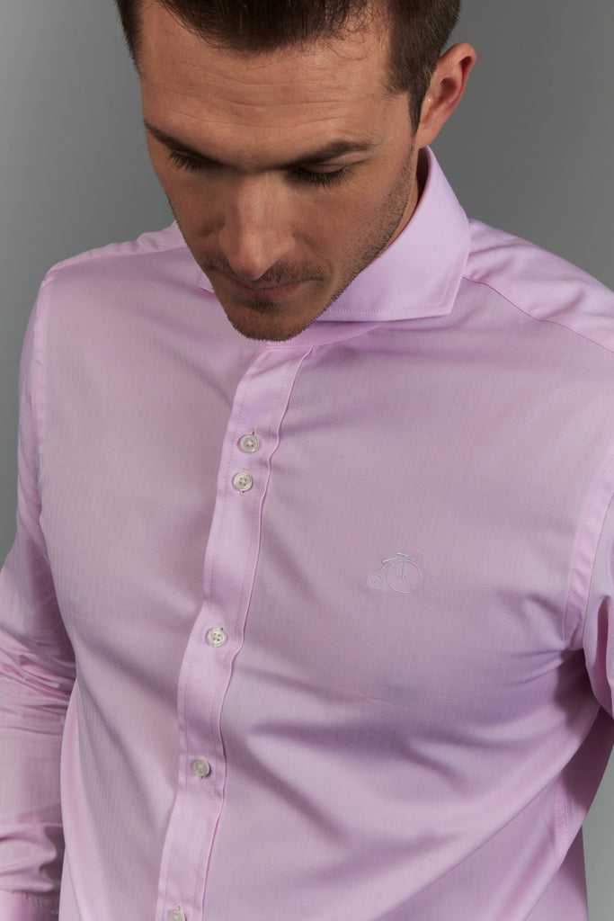 Men's Dress Shirt with Cutaway Collar - Pink - Winston