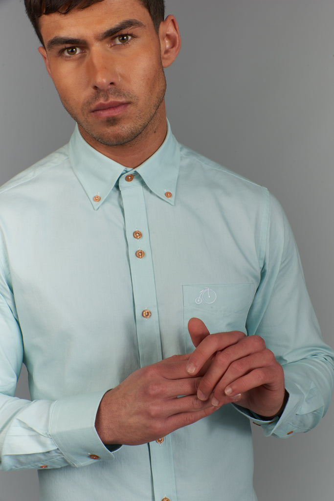 Victor | Light Green Oxford Shirt