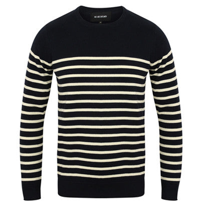 Hampton | Navy Breton Striped Cotton Jumper