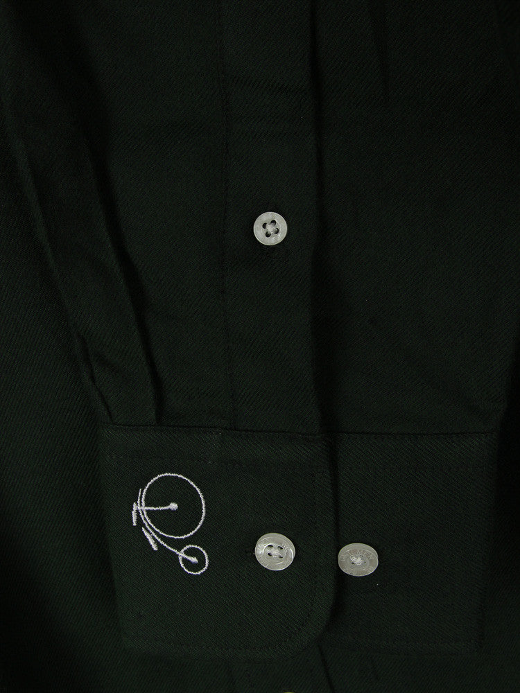 Orville | Dark Green Shirt With Cutaway Collar