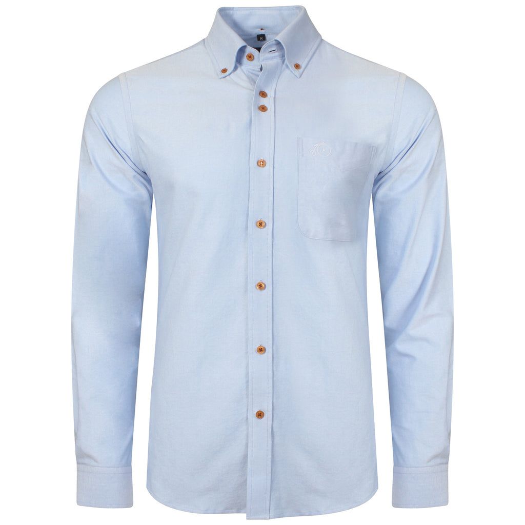 Men's Oxford Shirt 100% Cotton - Light Blue - Victor