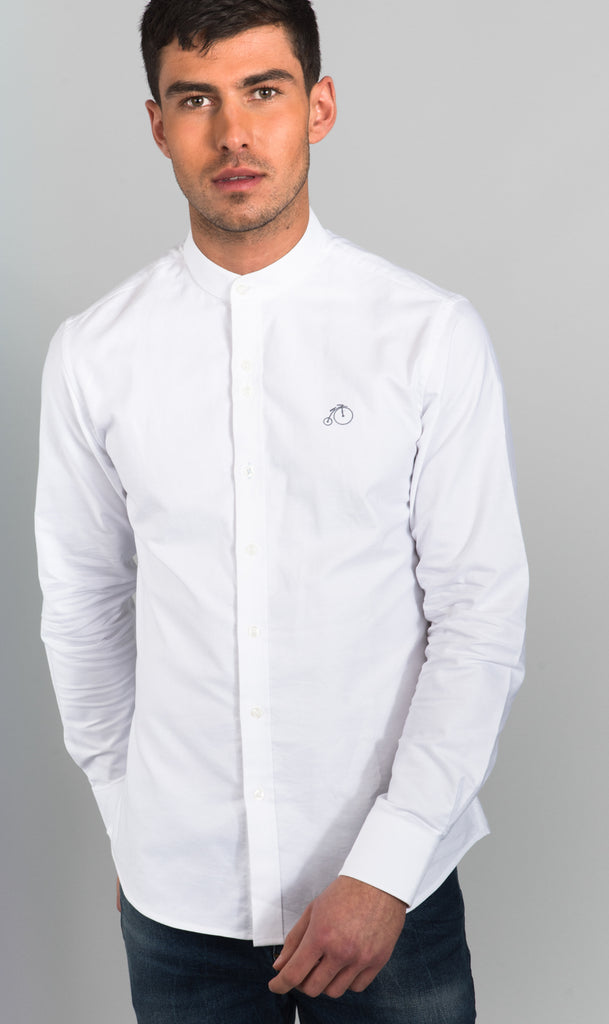 Eric | Oxford Shirt with Grandad Collar