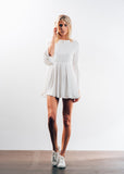 LOVERS PLEATED DRESS - WHITE