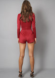 PLUNGE PLAYSUIT - WINE