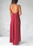 ISIDORA ALMA MAXI DRESS - BURGUNDY