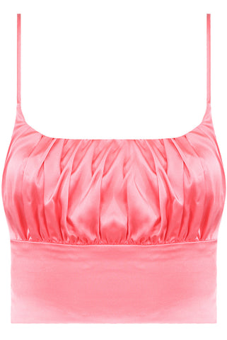 AYA TOP - PINK SATIN