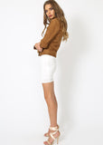MADE FOR MILAN SUEDE BIKER - TAN