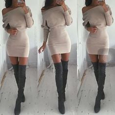 HONEY LOVE DRESS - SOFT BEIGE