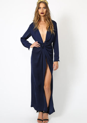 POSITANO NIGHTS MAXI DRESS - NAVY