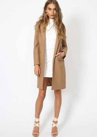 DONATELLA SHORT WINTER COAT - CAMEL