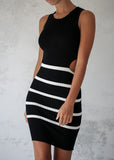 HEIDI DRESS - BLACK/WHITE