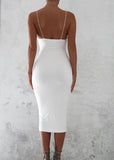 BASIC INSTINCT MIDI DRESS - WHITE