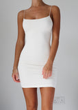 BASIC INSTINCT DRESS - OFF WHITE