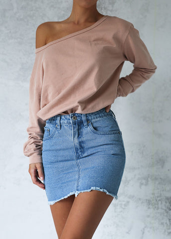 RENEE DENIM SKIRT