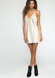MOTEL FINN SLIP DRESS - NUDE