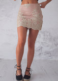 STAR DUST MINI SKIRT - GOLD