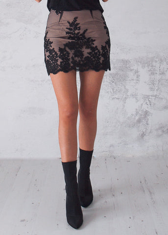 STAR DUST MINI SKIRT - BLACK