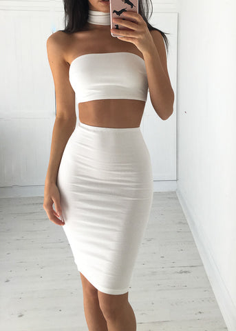 GABBY DRESS - WHITE