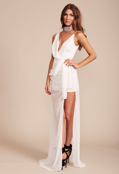 Take Me To Cannes Maxi Dress - White