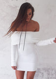 STORM KNIT DRESS - WHITE
