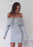 STORM KNIT DRESS - GREY