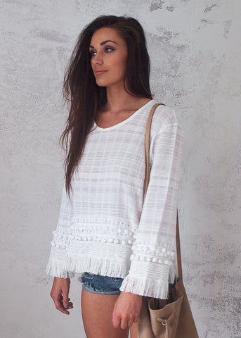 TASSEL TRIM BEACH TOP