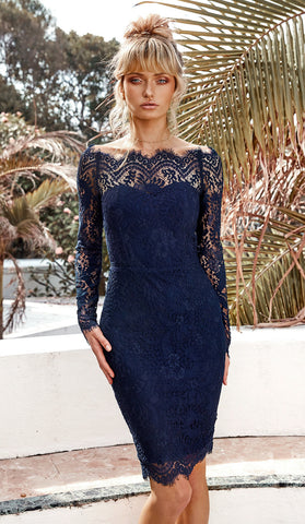 TATIANA DRESS - NAVY