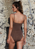 BRIGITTE BARDOT ONE PIECE - BROWN