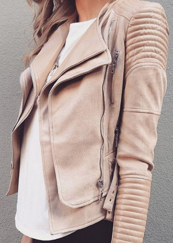 BROOKLYN BIKER JACKET - NUDE