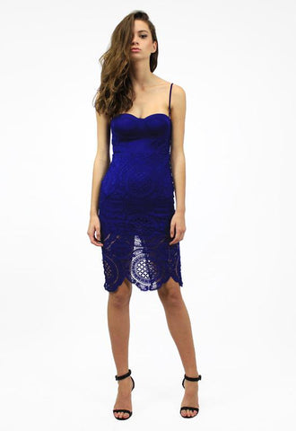 BETTINA DRESS - ROYAL BLUE