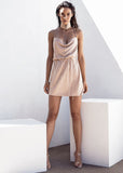 SABOLUXE ANKA DRESS - BEIGE SAND