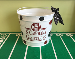 Collegiate Monogrammed Buckets - Additional Schools Available