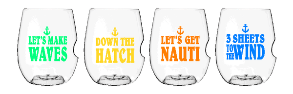 Govino Wine Glasses - Nautical Set