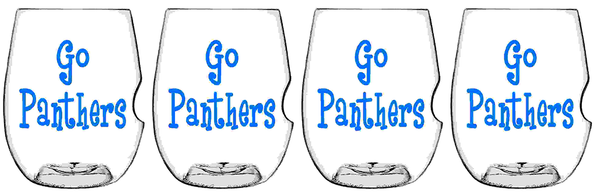 Govino Wine Glasses - Panthers Set