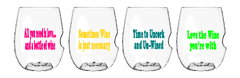 Govino Wine Glasses - Un-Wined Set