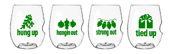 Govino Wine Glasses - X-mas Buzzed Set