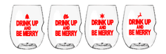 Govino Wine Glasses - X-Mas Drink Up Set