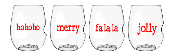 Govino Wine Glasses - X-Mas X-mas Type Set