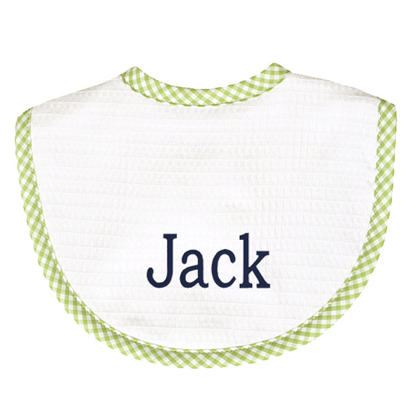 Gingham Pique Bib - 3 colors