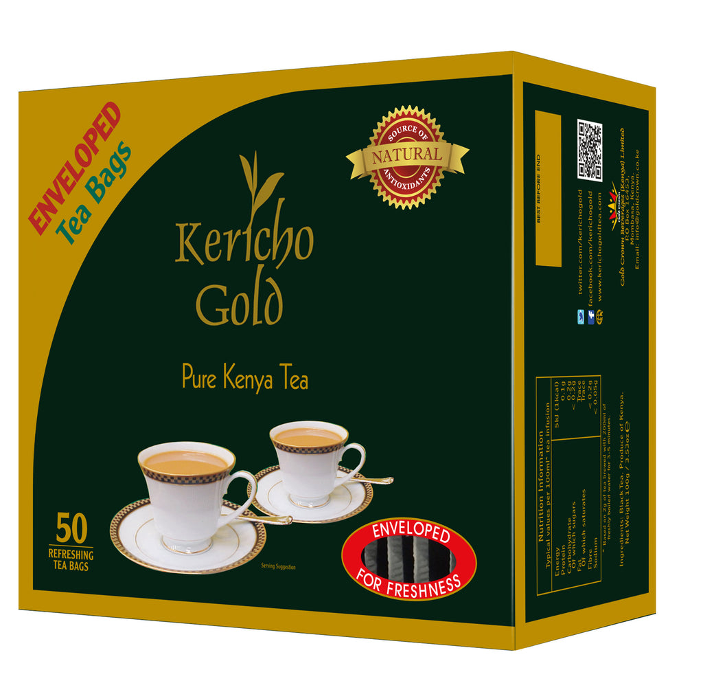 Kericho Gold (50) Enveloped Tea Bags