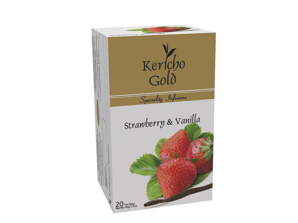 Kericho Gold Strawberry and Vanilla Tea