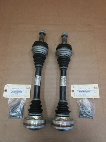 10 Panamera S RWD 970 Porsche L R REAR DRIVE SHAFT AXLES 97033202400 95,439