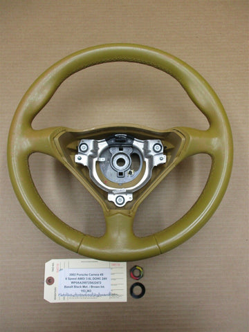 05 Boxster RWD Porsche 987 3 SPOKE STEERING WHEEL 99734780450 90,440