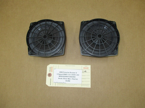 99 Carrera 911 RWD Porsche 996 Coupe L R DOOR SPEAKERS DRIVER PASSENGER 56,994