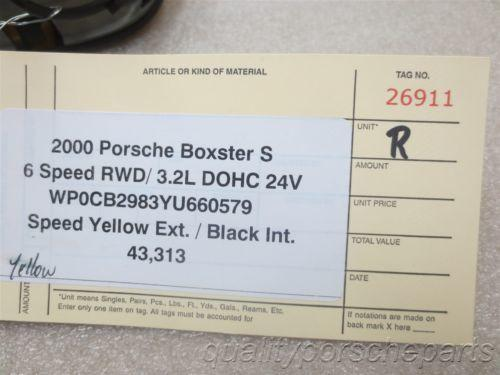 00 Boxster S RWD Porsche 986 R Yellow Exterior Side DOOR HANDLE 43,313