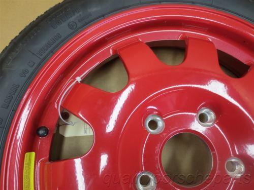 00 Boxster S RWD Porsche 986 Red SPARE RIM WHEEL stock 99636213001 41,922